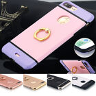 iPhone 7 6 Plus Case Hybrid Slim Shockproof Metal Ring Kickstand Cover For Apple
