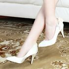 WOMAN SHOES IVORY SATIN SIDE BOW DIAMANTE WEDDING BRIDAL EVENING PARTY HEELS 8