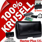 Krusell GENUINE LEATHER Hector Plus 5XL Pouch Case Belt Loop Cover + Card Holder