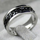 Fashion Spinner Chain Ring Men's Ring Rock Stainless Steel Chain Mens JewelryLAU