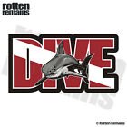 Dive Shark Decal Diver Flag Water Search and Rescue Diving SAR Vinyl Sticker TCS