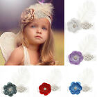 Toddler Baby Crystal Indian Big Flower and Feather Headdress Headband Hair Band