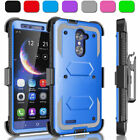Shockproof Rugged Tough Armor Heavy Duty Case Holster For ZTE Zmax Pro Z981