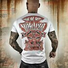 Neues Yakuza Herren Hit Me T-Shirt - Gray Dawn