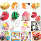 Kawaii Jumbo Squishy Fruit Breads Toast Slow Rising Bread Cellphone Strap Charms