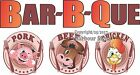 (Choose Your Size) Barbeque Pork Beef Chicken DECAL Food Truck Concession