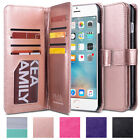 Slim Flip PU Leather 9 Card Slots Wallet Case Cover for iPhone 7 / iPhone 7 Plus