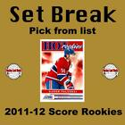 (HCW) 2011-12 Score Hot Rookies NHL Hockey RC Cards Set Break - You Pick $0.96 USD on eBay