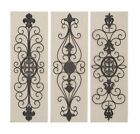Benzara Wall Emblems - Intricate Laced Metal Wall Emblems - Set of 3