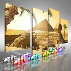 Sphinx And Pyramid In Egyptian Desert Offset Canvas Print Large Picture Wall Art