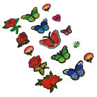 1 Set Butterfly Embroidered Patches Appliques DIY Sew Sewing Craft Iron On Craft