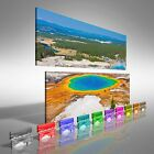 Grand Prismatic Spring In Yellowstone National Park Double Canvas Print Large