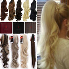 Jaw Ponytail Clip in Hair Extensions Claw On Pony tail Hair Extensions Real N45