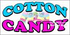 Choose Your Size) Cotton Candy in a Bag DECAL Food Truck Vinyl Sign Concession