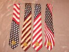 Patriotic Past Master Necktie Masonic Fraternity Freemason Stars Stripes NEW!