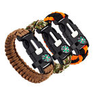 Outdoor Rope Paracord Survival Bracelet Compass Flint Fire Starter Whistle New V