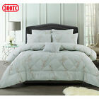 300TC 6 Pce June Jacquard Comforter Set by Accessorize - QUEEN KING