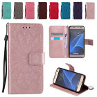 Leather Embossing Flip Wallet Case Stand Cover for Samsung S4 S5 S6 S7 Edge Plus