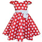 Baby Kids Girls Polka Dot Minnie Mouse Bowknot Costumes Party Fancy Dress