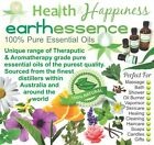 earthessence CERTIFIED 100% PURE ESSENTIAL OILS ~ Most Popular Range FREE GIFT
