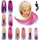 """24"""" 60CM Colorful Long Hair Training Head Mannequin Cut Hairdressing Doll Clamp"""