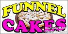 Choose Your Size) Funnel Cakes DECAL Food Truck Vinyl Sign Concession