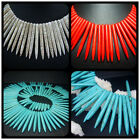 """20-50MM Blue、Red、White、Pin Howlite Turquoise Gems Spacer Beads 17"""" T0153"""