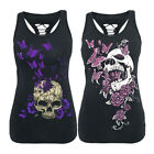 Summer Women Fashion Tank Gothic Punk T-Shirt Tee Cotton Sleeveless Vest Tops