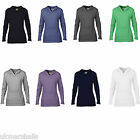 ANVIL LADIES CROSSNECK HOODED SWEATSHIRT HOODIE S-XXL AV522