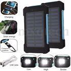 50000/60000mAh Solar Power Bank Charger Dual USB Battery Set For Transportable Phone