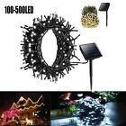 100-500 LED Outdoor Solar Powered String Light Fairy Lamp Garden Christmas Party