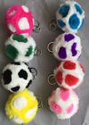 Colorful Rex Rabbit Fur Ball For Keychain/Handbag/Car DIY Accessories 8CM