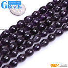 Natural Purple Amethyst Olivary Rice Beads For Jewelry Making Free Shipping 15""