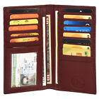 New Men's Leather Long Wallet Pockets ID Card Clutch Bifold Purse