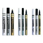 Sakura Calligraphy Pen Touch Paint Marker Pens Gold Silver White 0.7/1.0/2.0mm