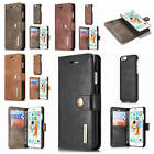 For iPhone 6 Plus 6s Plus Detachable Back Genuine Leather Classic Card Slot Case