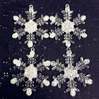 8/12pcs 6cm Acrylic Crystal Snowflake Bead Favors DIY Party Decoration