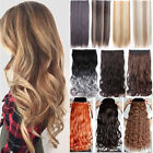 AU Real Thick Long New 3/4 Full Head Clip in Hair Extensions With 10% Human Fgb