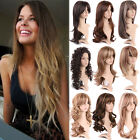 Women New Style Natural Full Wigs Silky Medium Curly Hair Synthetic Daily Wig mn