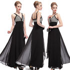 Ever-Pretty Long Chiffon Evening Dress Formal Cocktail V Neck Prom Gown 08035