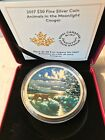 2017 CANADA ANIMALS in the MOONLIGHT - COUGAR $30 Proof SILVER Coin