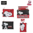 Set of 2 Pencil cases School Makeup Storage Snoopy Peanuts Synthetic Leather