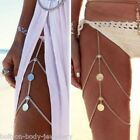 Beach Multi layer Tassel Thigh Leg Chain - Elasticated - Bikini, Festivals, Club
