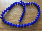 SAPPHIRE  GEMSTONE BEADS approx 39CM string x 8mm Beads