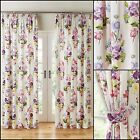 Bouquet 3 Pass Blackout Lined Tape Top Curtains - Accessories Available
