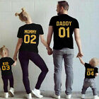 Family Matching Clothes Short Sleeve T-shirt DADDY MOMMY KID BABY Tee Blouse Top