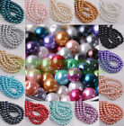 Lots 4mm 6mm 8mm 10mm Round Czech Glass Pearl Loose Spacer Beads Charms Findings