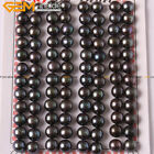 48 Pairs Women 7-8mm Button Half Drilling Pearls Beads Earrings Jewelry Making