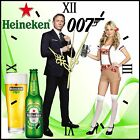 Heinekins Beer James Bond 007 BAR Sign • With or Without A Clock $99.99 USD