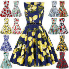 Vintage Style Retro 50s 60s Pinup Housewife Swing Evening Tea Length Dress US/